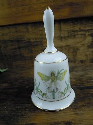 Vintage Franklin Porcelain Snowdrop Flower Fairy fine bone China Bell 1979