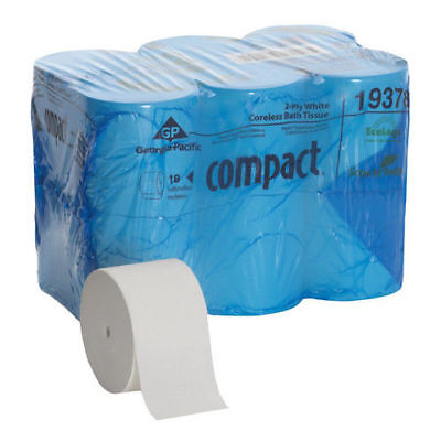 Compact Professional Coreless Bath Tissue (18-Pack) 19378 New