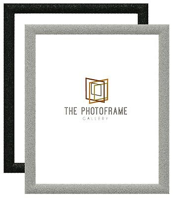 Stardust Glitter Sparkle Photo Frame Picture Poster Frame Black Panoramic Square