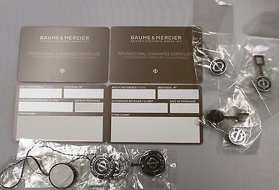 4 Baume & Mercier Int'l Guarantee and Limited Warranty Certificate Cards & Tags+
