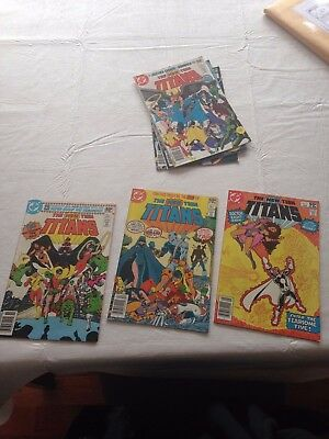 New Teen Titans #1, 2, 3, 4, 5, 6 Comic Lot! First Deathstroke! Free Shipping!