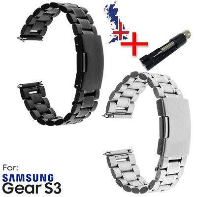 Stainless Steel Band Strap for Samsung Gear S3 Frontier Classic + links tool
