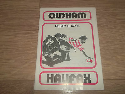 Oldham V Halifax. ~ Rugby League Football Programme April 1980