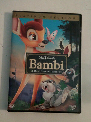 Disney Platinum Special Edition BAMBI animated DVD - 2 disc set **LOOK**
