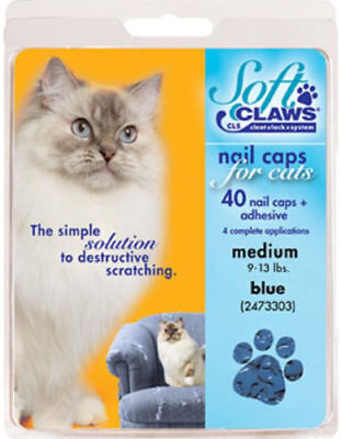 Soft Claws Nail Caps for Cats and Kitten, Choose Small, Medium Large & Color