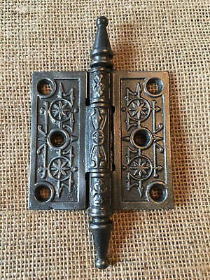 "Antique Cast Iron Steeple Tip Door Hinge 3"" x 3"" hardware"