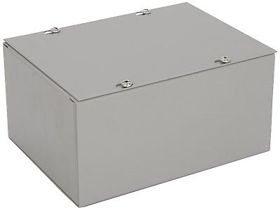 NEW! Gray Bud NEMA 1 Sheet Metal Junction Box Electrical Enclosure Project 6x8x4