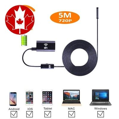 Smartphone WIFI Endoscope Camera Adapter, JimiTek 2.0MegaPixel HD Waterproof...