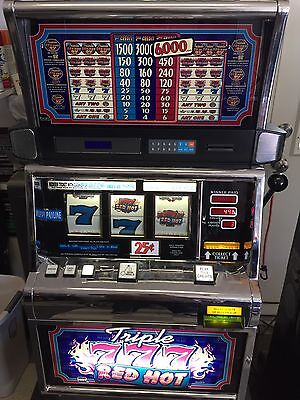 IGT S2000 Triple Red Hot Seven Slot Machine. Great For Game Room