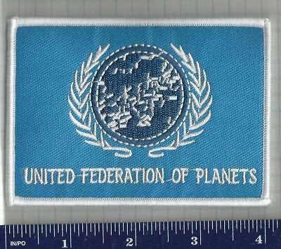 "cosplay STAR TREK ""united federation of planets"" iron-on patch"