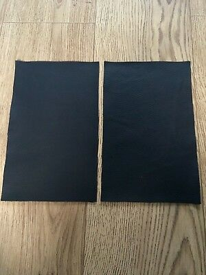 Black Leather Offcuts Craft Pieces Top Quality