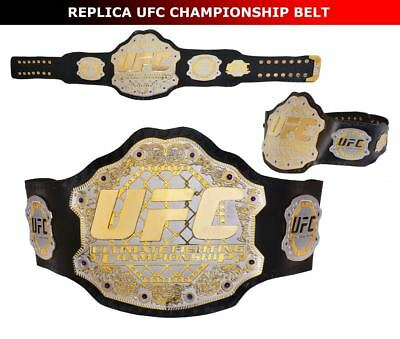 MMA UFC Championship Belt Ultimate Fighting Replica Belts Adult Size Metal Plate