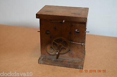 Antique Wooden Plates Cuckoo Clock movement for parts or project