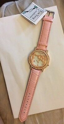 Sanrio Hello Kitty Pink Embellished leather band Watch