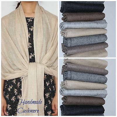 Pure Cashmere Scarf Shawl Wrap Scarves Wedding Bridesmaid Women Stole Classic