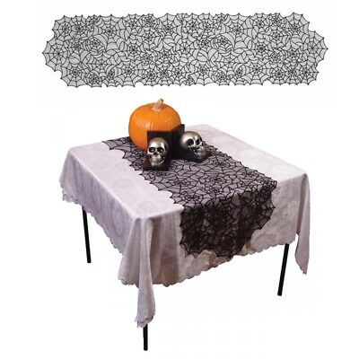 Round Halloween Spider Web Tablecloth Topper Covers Fireplace Table Party Decor