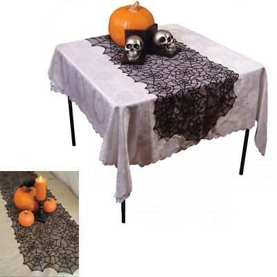 Spiderweb Lace Tablecloth Table Topper Cover Halloween Decoration Haunted House