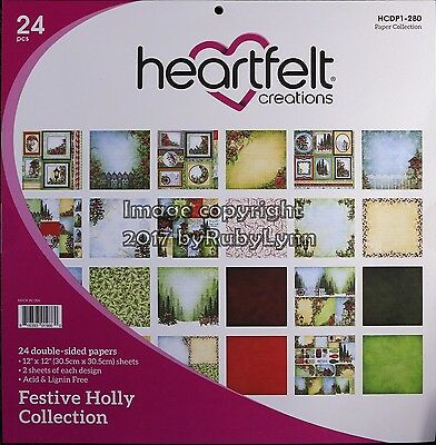 Heartfelt Creations Festive Holly  Paper Collection HCDP1 - 280