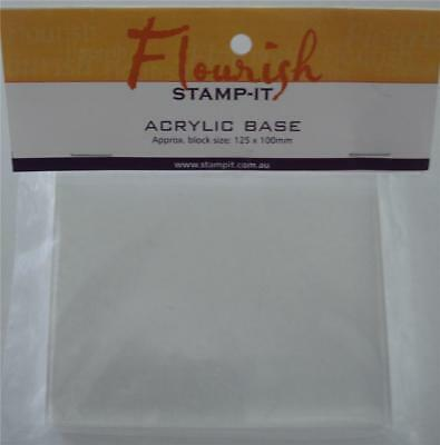 ~ Acrylic Clear Stamping Block ~ Flourish Stamp-It 12.5cm x 10cm Stamping