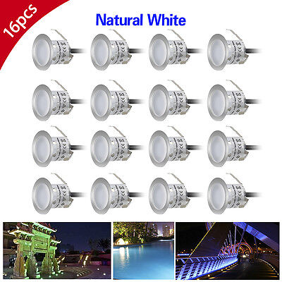 16X32mm White 12V IP67 Outdoor Stairs Path Yard Patio LED Inground Deck Lights