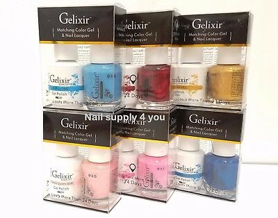 Gelixir - Duo UV/LED Soak Off Gel + Nail Polish - (#01 - #56)-Choose Your Colors