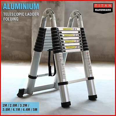 Telescopic Aluminium Ladder Multipurpose 3.8M Folding Step Extension Platform