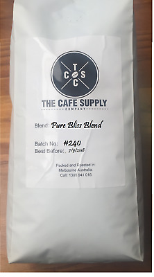 The Cafe Supply Company, Pure Bliss Blend 1kg coffee Beans, Introductory special