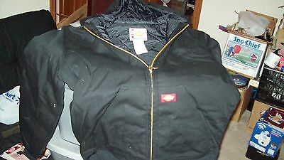 Brand new with tags, Dickies Men's Duck Hooded Jacket Size M Black or Brown