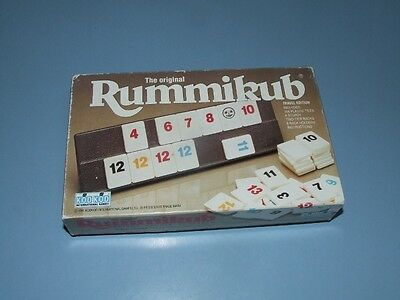 The Original RUMMIKUB Vintage Board GAME Travel Edition