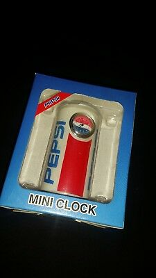 Mini Pepsi Can Advertising Clock/Paper weight Desk Ornament.