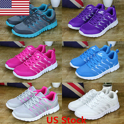 US Women's Sneakers Canvas Mesh Fashion Breathable Sports Running Casual Shoes