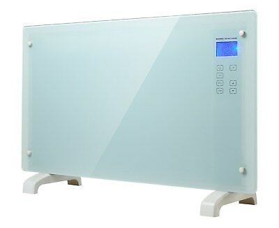 Electric Convector Glass Panel Heater 2000W Portable Indoor Convection Heating