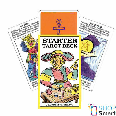 Starter Tarot Cards Deck With Printed Meaning Esoteric Telling New