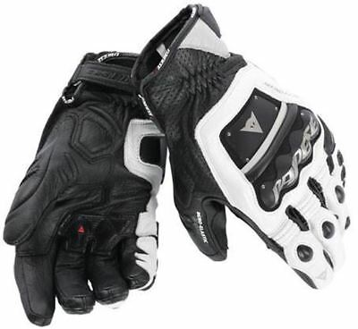 DAINESE 4 STROKE EVO Black White Motorcycle Gloves ALL SIZES