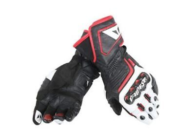 DAINESE CARBON D1 Long Gloves Black White Red Motorcycle Gloves ALL SIZES