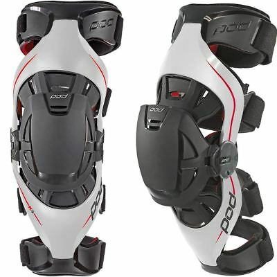Pod Knee Brace K4 Grey Red Pair All Sizes