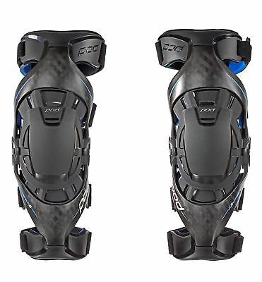 Pod Knee Brace K8 Carbon Blue Pair All Sizes