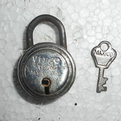 India Antique Huge Iron handmade Padlock  with handmade Key working condition