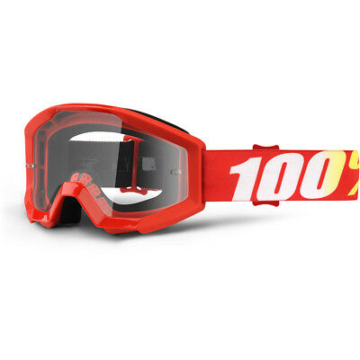 100% Percent NEW Mx Strata JR Furnace Clear Kids Youth Motocross BMX Goggles
