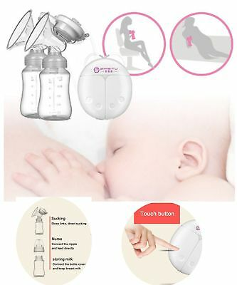 Electric Breast Pump Automatic Double Intelligent Handfree Baby Feeder SAD