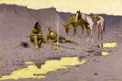 A New Year on the Cimarron by Frederic Remington Giclee Repro on Canvas