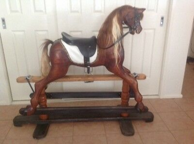 Rocking horse wooden hand-made