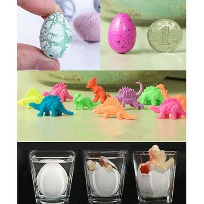 3X Magic Growing Dino Eggs Hatching Dinosaur Add Water Child Inflatable Kid FL