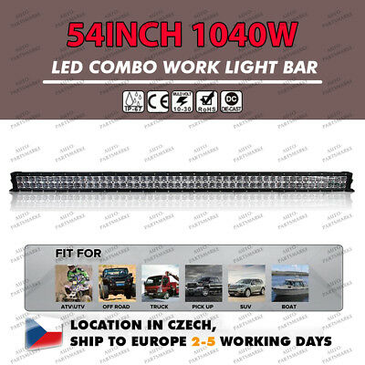 "50""INCH 1152W CREE Led Light Bar Spot Flood Work Driving SUV JEEP Offroad Lamp"