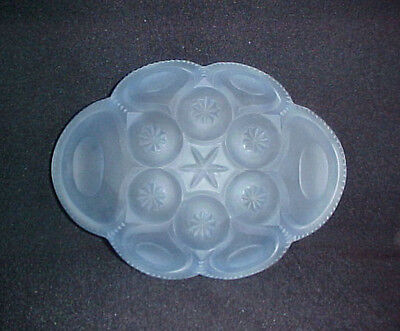 Moon & Stars Kimberlite Blue Frosted Oval Cheese Tray-Made in USA- Weishar