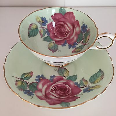 Paragon Mint Green Cup And Saucer