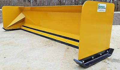 10' Snow pusher boxes FREE SHIPPING skid steer snow plow Bobcat quick attach