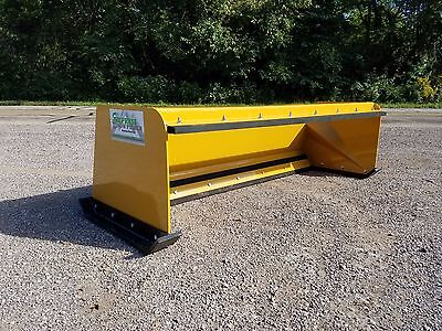 7' Low Pro pullback snow pusher FREE SHIPPING skidsteer Bobcat Case Caterpillar