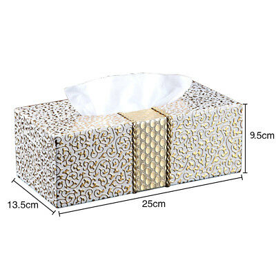 Creative Tissue Case Box PU Leather Durable Household Napkins Tissue Box Covers
