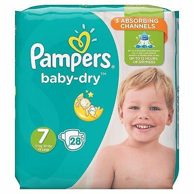 Pampers Baby Dry Size 7 Samples X2 Nappies